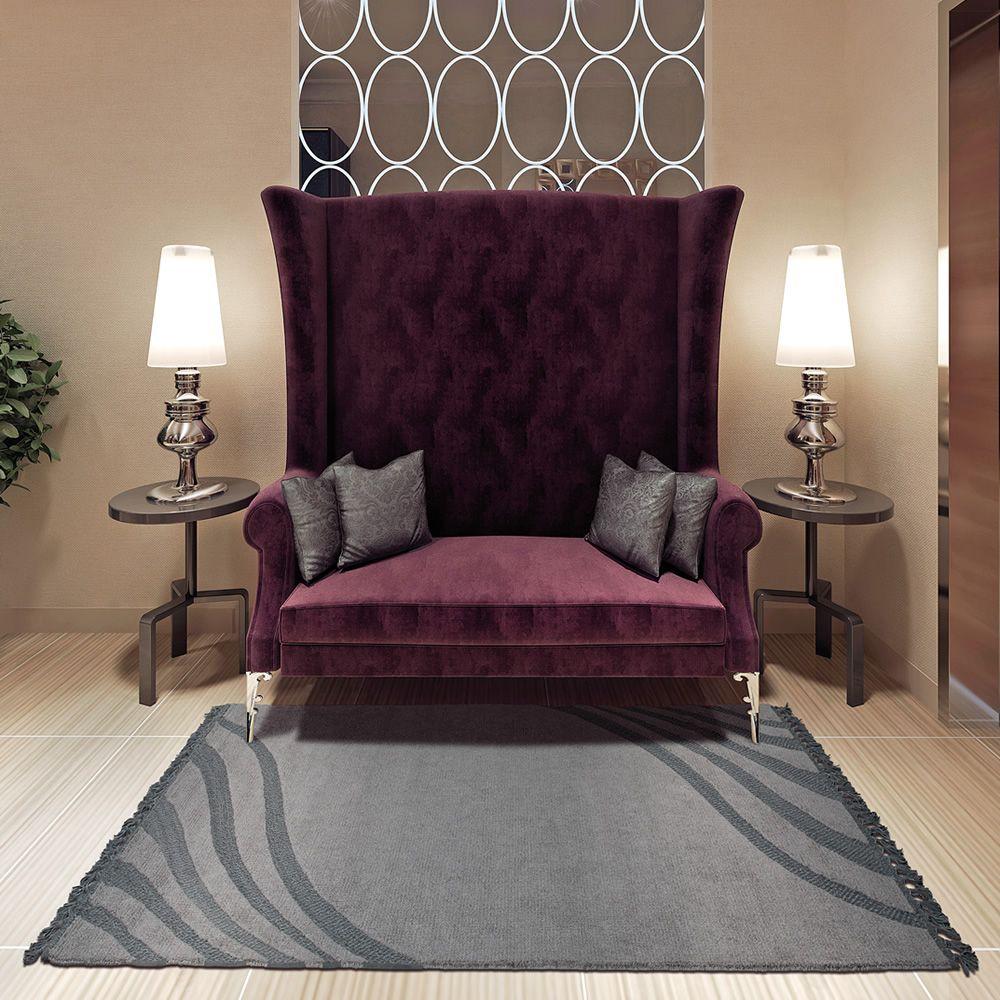 gilda designer teppich aus pflanzenseide und s mischleder in verschiedenen gr en verf gbar. Black Bedroom Furniture Sets. Home Design Ideas