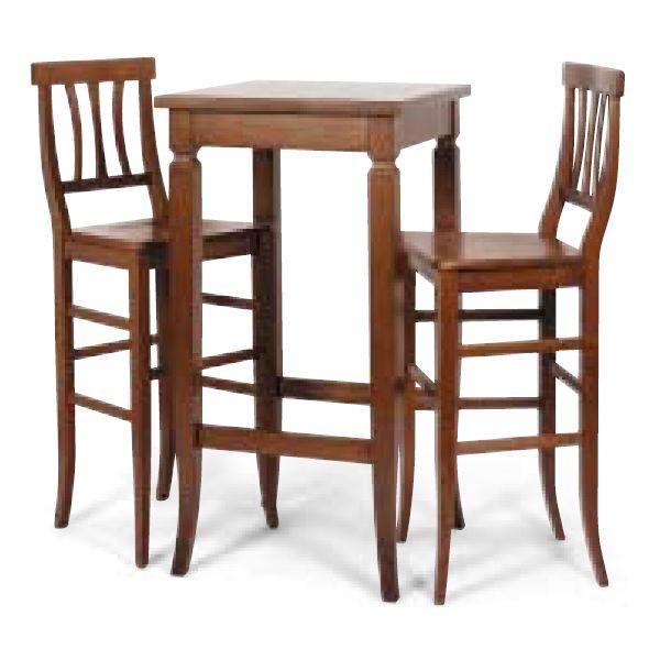 dt86 per bar e ristoranti tavolo alto da bar in legno