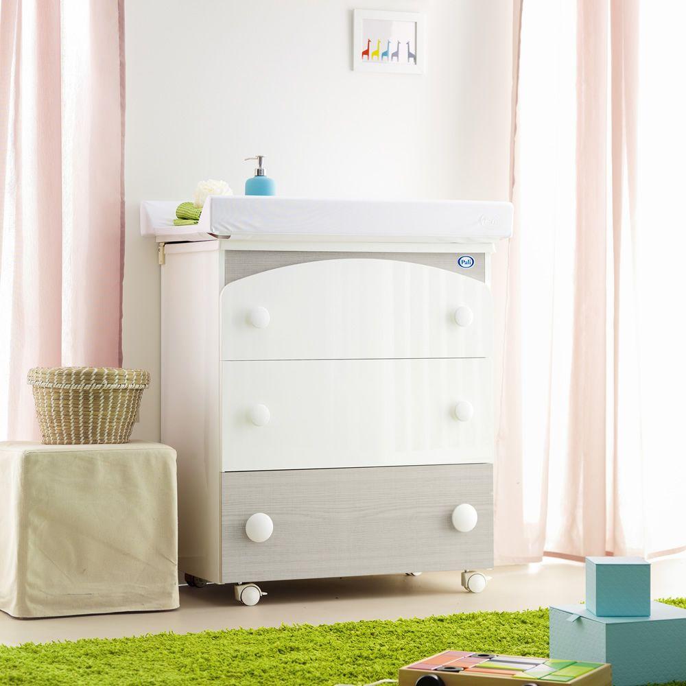Gaia f baignoire table langer pali avec 3 tiroirs - Table a langer en bois avec baignoire ...