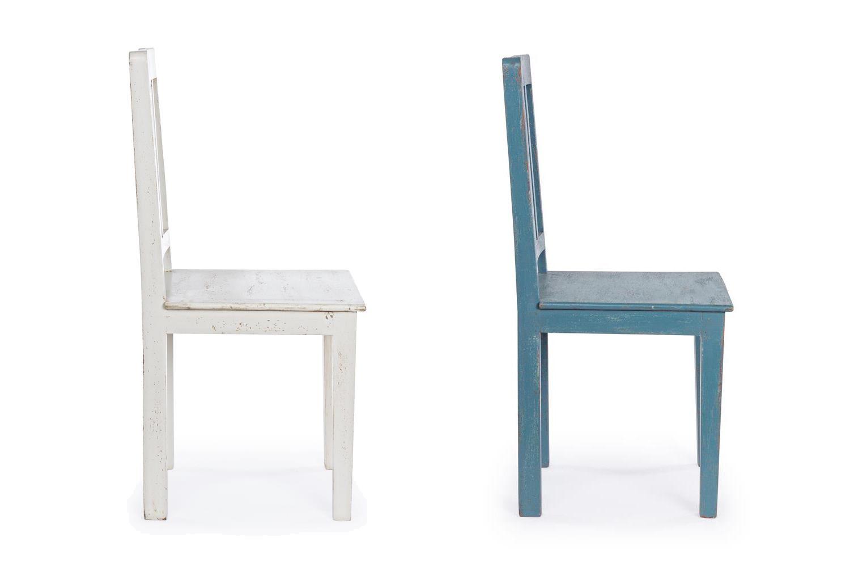 Maria sedia shabby chic in legno disponibile in diversi for Ufficio bianco e blu