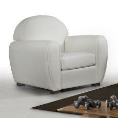 Biancospino-P - Poltrona imbottita, diversi rivestimenti e colori disponibili