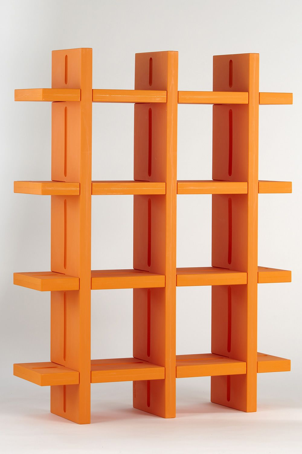 orange indigo bookcases by plank bookcase furniture handcrafted grand double