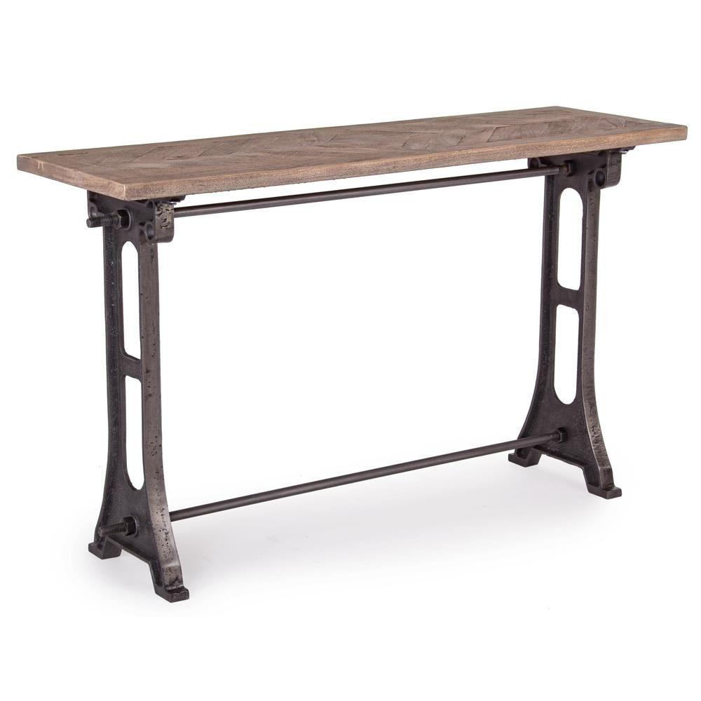 Accra consolle consolle urban style in metallo con for Consolle legno