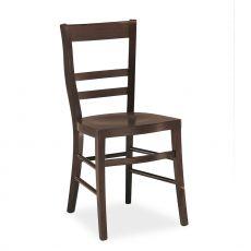 120 - Sedia in legno con seduta in multistrato