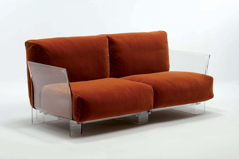 pop sofa canap design kartell 2 places structure en polycarbonate rev tement en. Black Bedroom Furniture Sets. Home Design Ideas
