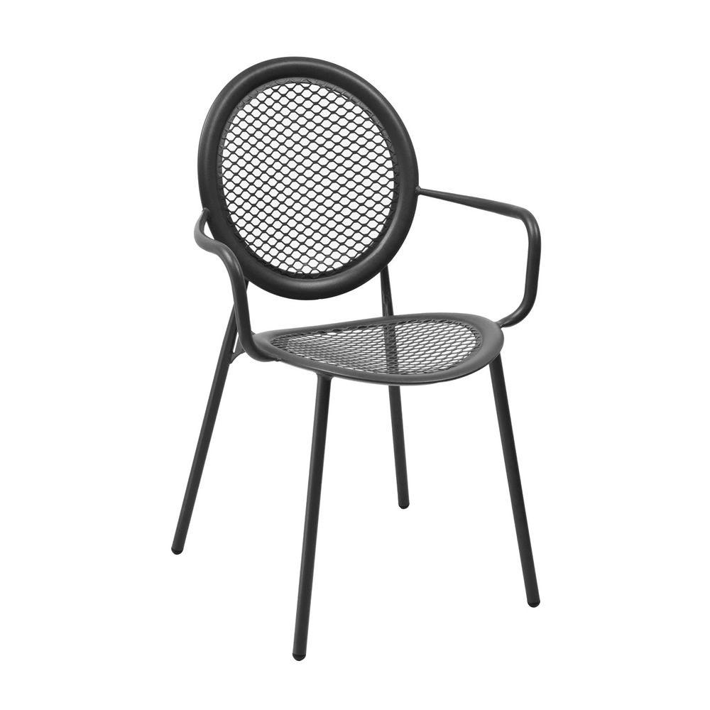 antonietta 3397 pour bars et restaurants chaise en m tal pour ext rieur avec des accoudoirs. Black Bedroom Furniture Sets. Home Design Ideas