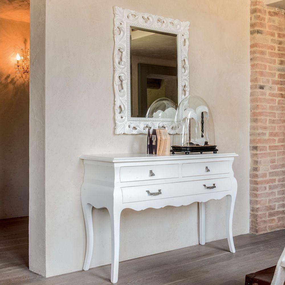 Marte 4955 espejo tonin casa con marco cl sico de madera for Espejos con marco de madera blanco