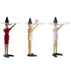 Pinocchio-T - Tavolino di servizio Valsecchi in legno piano in policarbonato, diversi colori disponibili