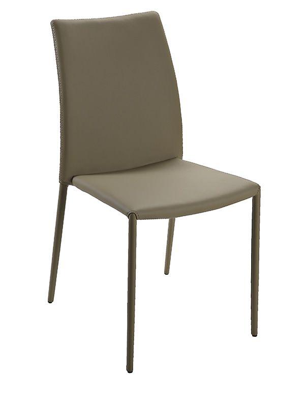 Vr40 sedia impilabile interamente rivestita in - Color fango abbinamenti ...