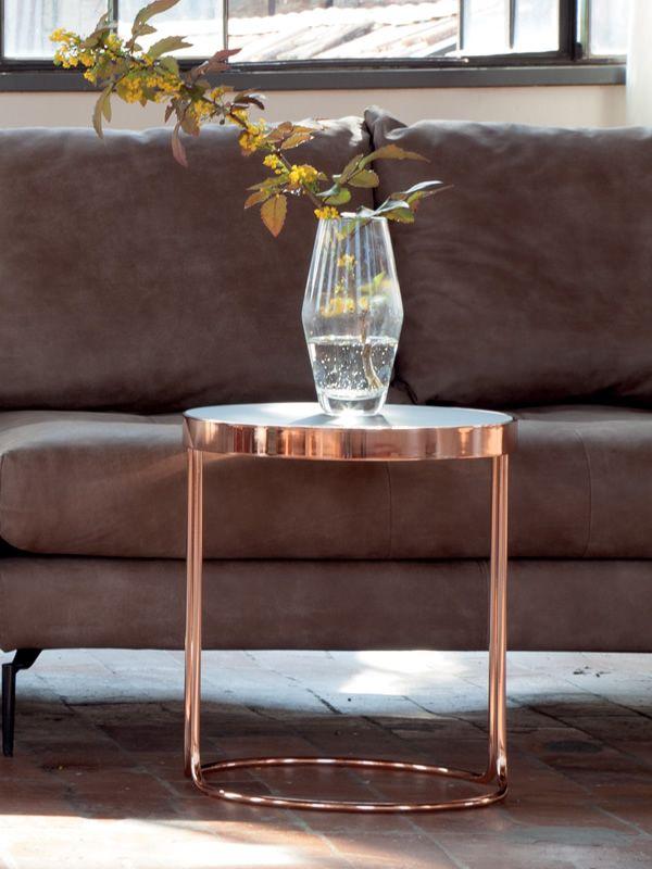 Cora 6035 tavolino tonin casa in metallo con piano in for Piani casa in stile key west