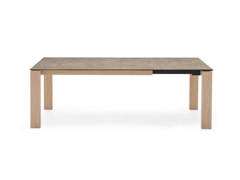 Cb4069 lv 180 sigma table connubia calligaris en bois for Plateau table 180