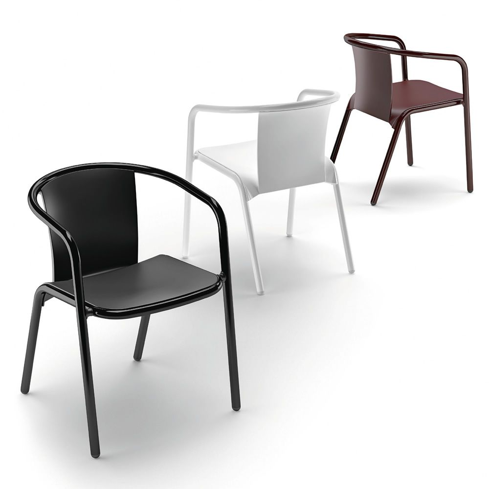 chaises en aluminium maison design. Black Bedroom Furniture Sets. Home Design Ideas