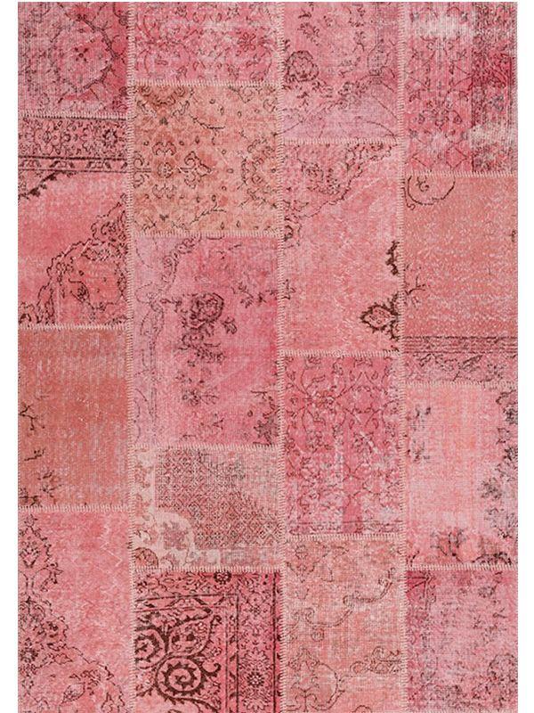 Antalya Pink Teppich rosa aus reiner Schurwolle