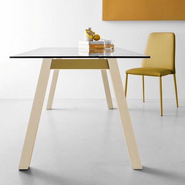 Hetre Bois Traduction : CB4781 T-Table: Table fixe Connubia – Calligaris en bois et m?tal