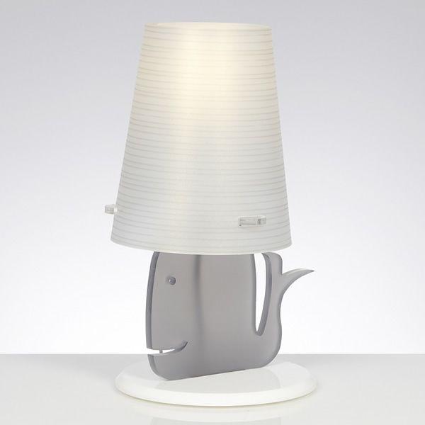 Balenalamp | Lampada da tavolo in metacrilato, grigio opal