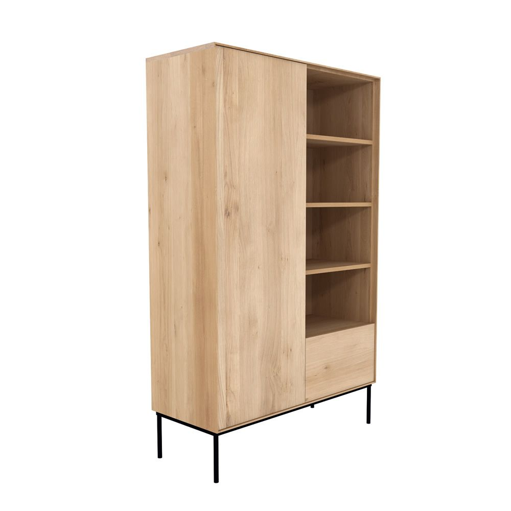 bird b meuble d 39 appoint biblioth que ethnicraft en bois avec portes tiroirs et etag res en. Black Bedroom Furniture Sets. Home Design Ideas