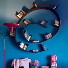 Bookworm-Popworm - Kartell design bookcase, in PVC, different shapes and colous