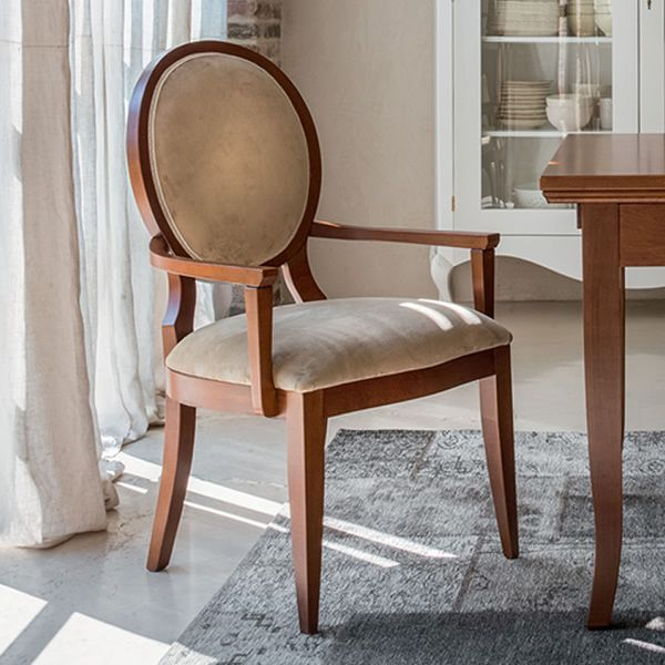 Auriga p 1193a sedia classica tonin casa in legno con for Rivestimento sedie