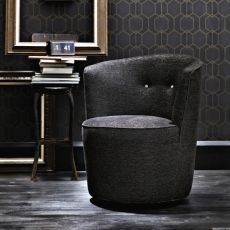 Anita - Padded armchair available with several coverings