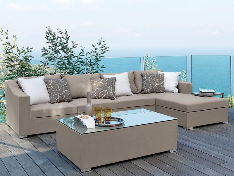 Chic divano modulare per giardino anche con tavolino - Chaise longue giardino ...