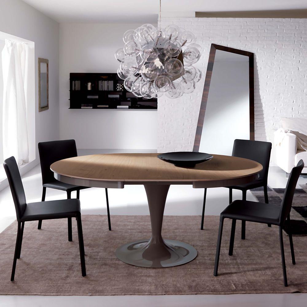 Eclipse l tavolo moderno in metallo piano in legno for Tavolo eclipse di ozzio design