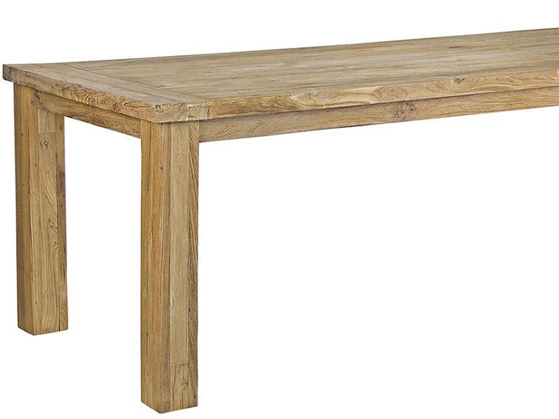 Garda table en teck avec plateau rectangulaire 240x100 cm - Table en teck exterieur ...