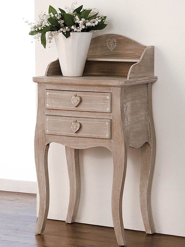 linosa konsolentisch shabby chic aus holz mit schubladen sediarreda. Black Bedroom Furniture Sets. Home Design Ideas