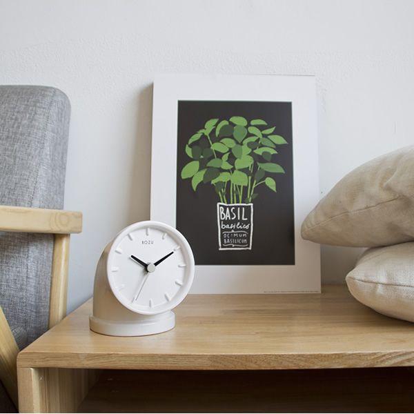 Plumber | Table clock, white colour