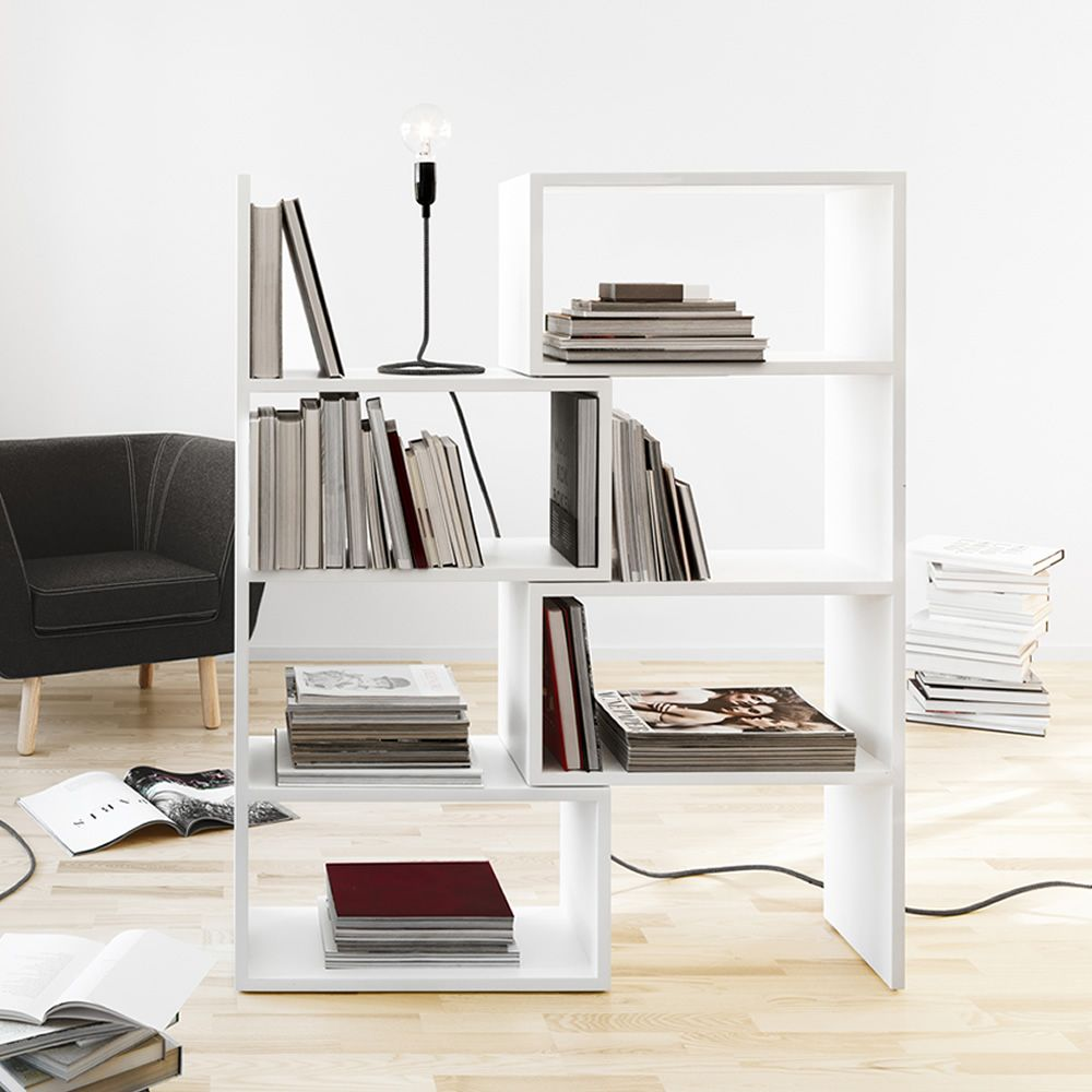 Extend: Extendable Bookcase Made Of White Lacquered MDF