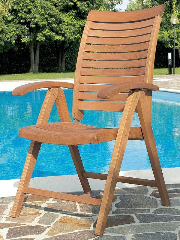 Mirage BF - Sedia con braccioli, in legno di robinia, schienale ...