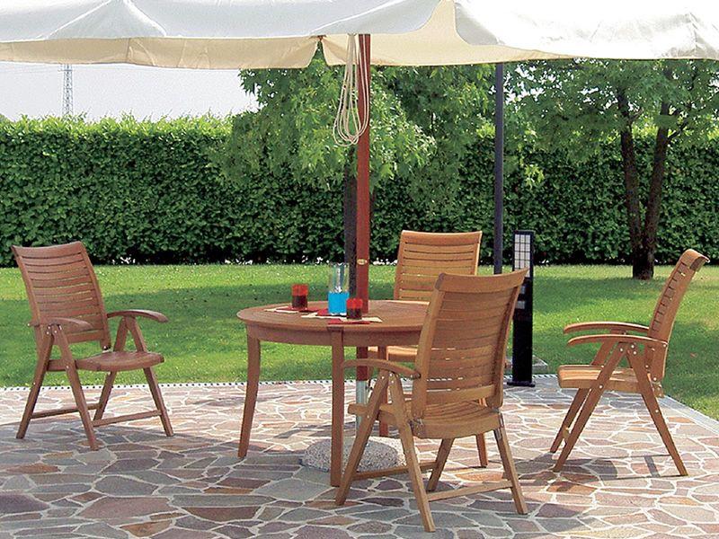 Dream mesa de madera robinia di metro 125 cms para - Mesa de madera para jardin ...