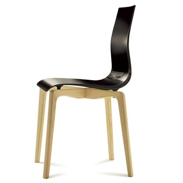 Gel l domitalia wood chair methacrylate seat - Chaise contemporaine bois ...