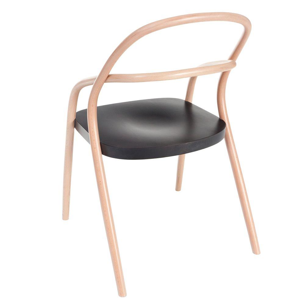 Chaise noir et bois cool chaise lot de lot de chaises de for Chaise noir bois