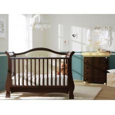 Vittoria - Lettino-divanetto Pali in legno di faggio con cassetto