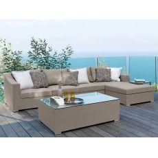Chic - Canapé modulable pour jardin, aussi avec table basse