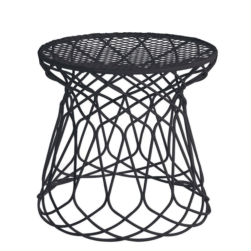 Black And White Pouf Re Trouvc F Emu Pouf Made Of Metal For Garden In Several