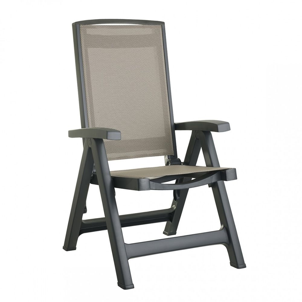 esmeralda lux 2067 liegestuhl aus polypropylen mit wasserabsto endem bezug f r den sitz und. Black Bedroom Furniture Sets. Home Design Ideas