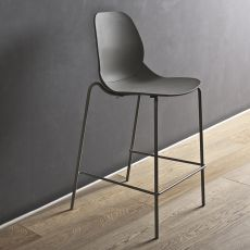 April S - Stackable high stool Bontempi Casa, in metal and polypropylene, available in different colours and heights
