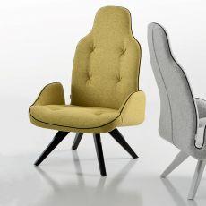 Betibù Wood P - Poltrona di design Chairs&More, in legno con sesuta imbottita, disponibile in diversi colori